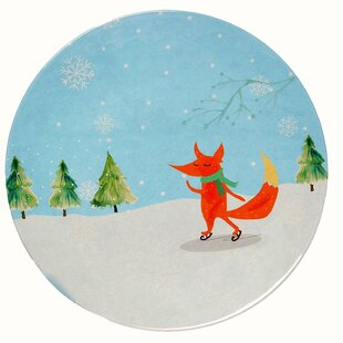 Winter Fox Melamine Dinner Plate (Set of 36)  sc 1 st  Wayfair & Acrylic u0026 Melamine Christmas Plates u0026 Saucers Youu0027ll Love
