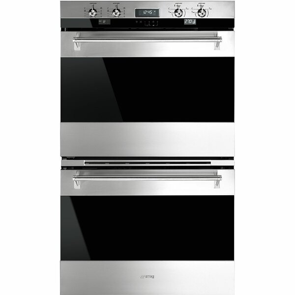 30 Self Cleaning Electric Double Wall Oven by SMEG