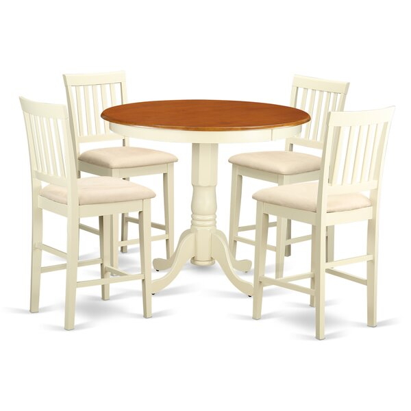 Speights 5 Piece Counter Height Pub Table Set by Charlton Home Charlton Home