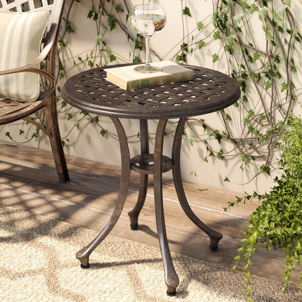 Kastner Outdoor Metal Side Table by Charlton Home