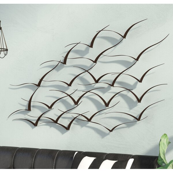 Handcrafted Flock of Birds Metal Art Wall Décor by Trent Austin Design