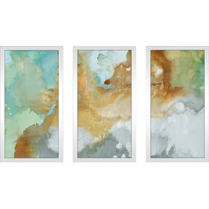 'Open Layers' Framed Acrylic Painting Print Multi-Piece Image on Glass by Ivy Bronx
