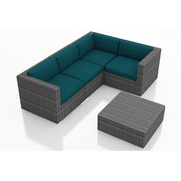 Hobbs 5 Piece Sunbrella Sectional Set with Cushions