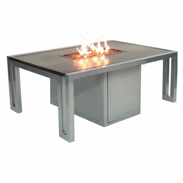 Icon Aluminum Propane Fire Pit Table by Leona