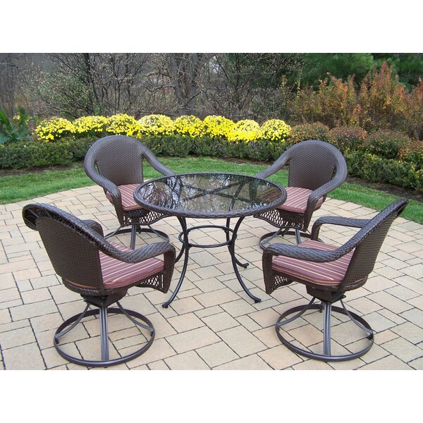 Kingsmill 5 Piece Dining Set with Cushions by Rosecliff Heights