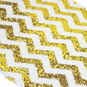 Sequin Chevron Table Runner