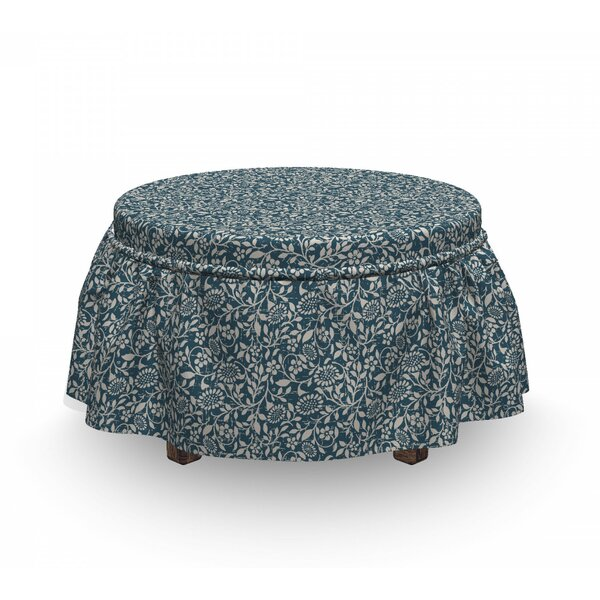 Leaves And Stems Ottoman Slipcover (Set Of 2) By East Urban Home