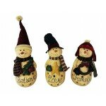 3 Piece Set Lighted Snowmen by Craft Outlet