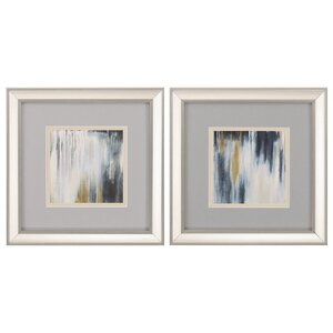 Blue and Brown Paysage 2 Piece Framed Painting Print Set by Propac Images