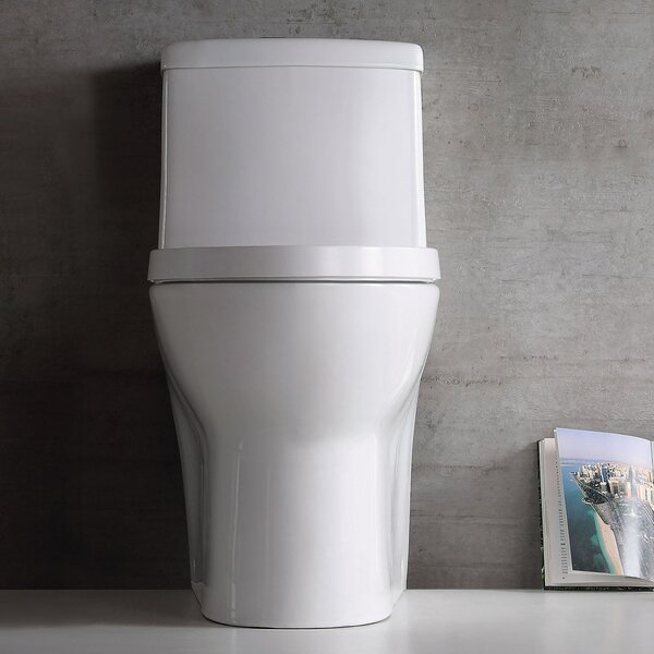 Dual Flush Elongated One-Piece Toilet by Jade Bath