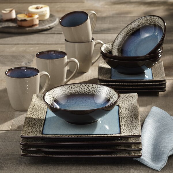 Roma 16 Piece Dinnerware Set, Service for 4 by Accents by Jay