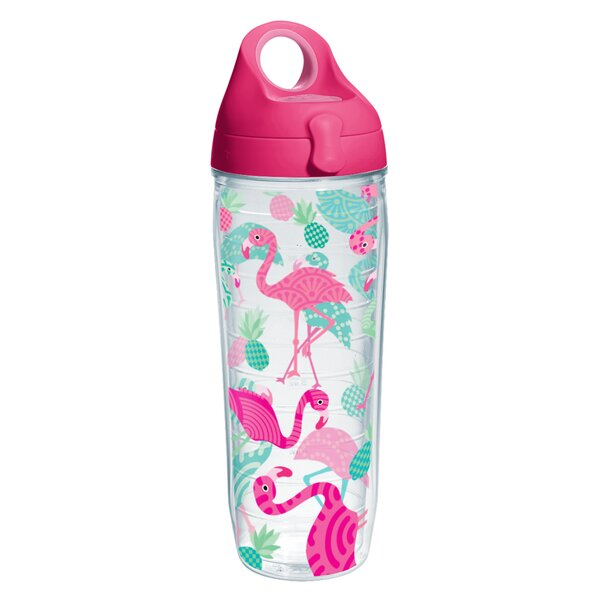 Sun and Surf Flamingos Water Bottle 24 oz. Plastic by Tervis Tumbler