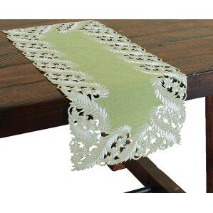 Beautiful Laurel Embroidered Cutwork Mini Table Runner