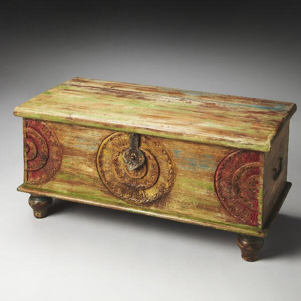 Fasano Wood Coffee Table With Storage By World Menagerie