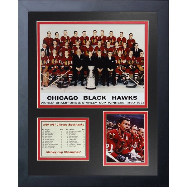 1961 Chicago Blackhawks Champions Framed Memorabilia by Legends Never Die