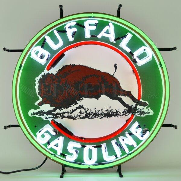 Buffalo Gasoline Neon Wall Light by Neonetics