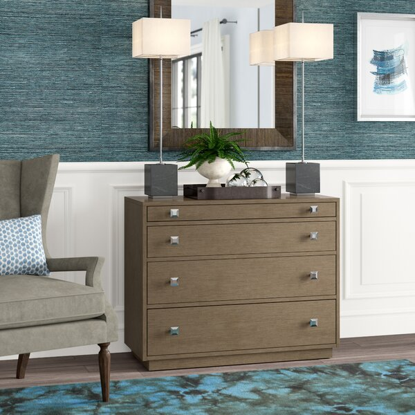 Ariana 4 Drawer Dresser With Mirror by Lexington