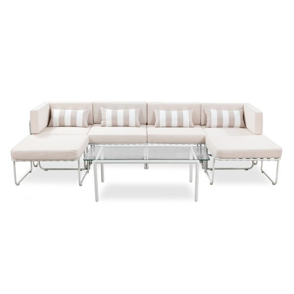 Shorehamby Outdoor 7 Piece Sectional Seating Group with Cushions by Freeport Park