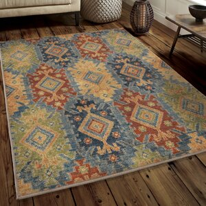 Marvin Green/Blue/Red Area Rug