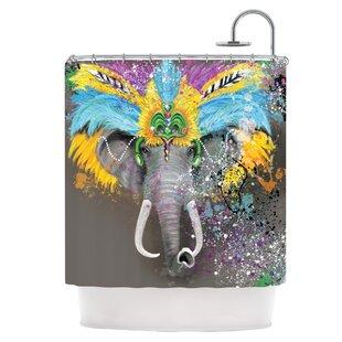 My Elephant with Headdress Shower Curtain ByEast Urban Home