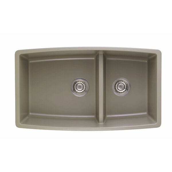 Performa 33 L x 19 W 2 Basin Undermount Kitchen Sink by Blanco