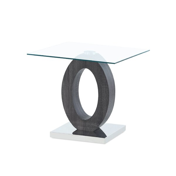 Spurrier Oval Style Base End Table by Orren Ellis