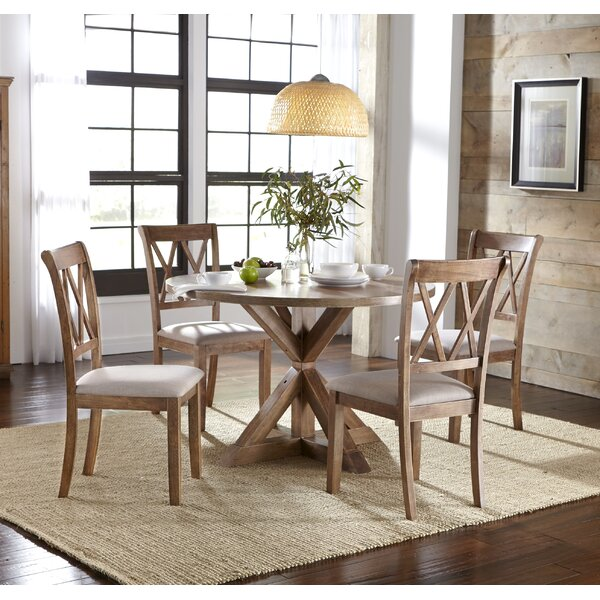 Skyline Pedestal 5 Piece Dining Set by Ophelia & Co.