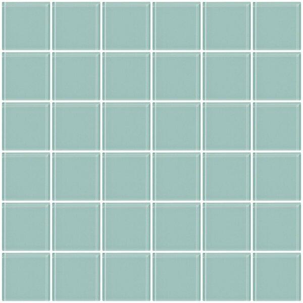 Bijou 22 2 x 2 Glass Mosaic Tile in Light Aqua Blue by Susan Jablon
