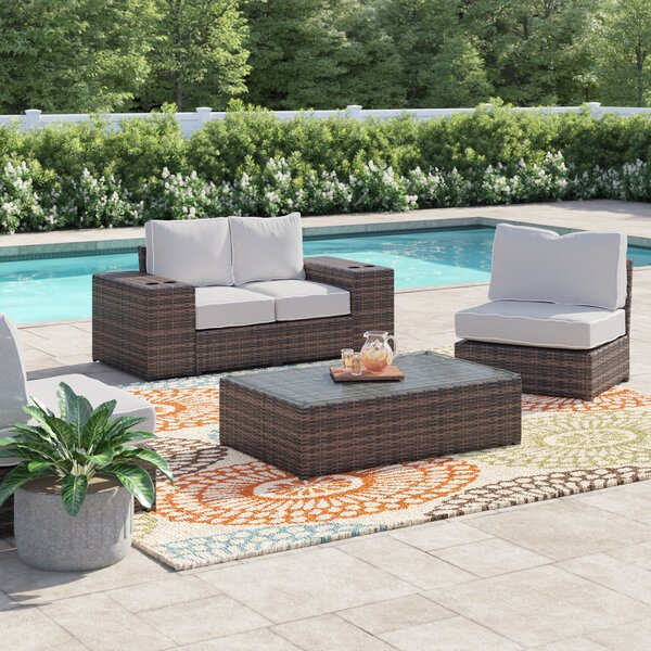 Widener 7 Piece Sectional Seating Group with Cushions by Sol 72 Outdoor