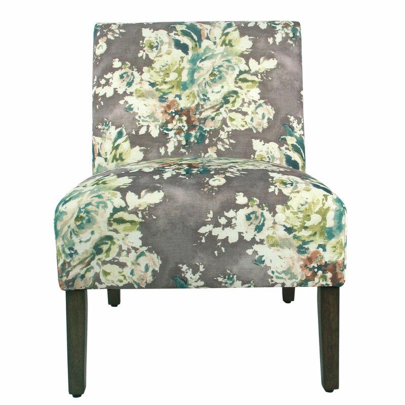 Winston Porter Itzel Fabric Upholstered Wooden Side Chair