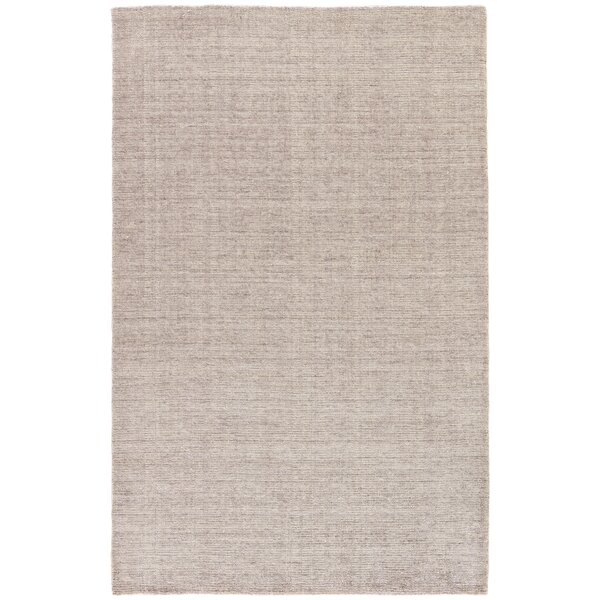 Lev Hand-Knotted Silver/Pink Area Rug by Union Rustic