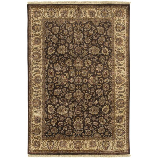 Attica Brown Floral Area Rug by Astoria Grand