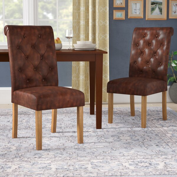 Elda Tufted Upholstered Dining Chair (Set of 2) by Alcott Hill