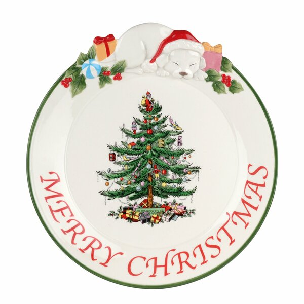Christmas Tree Puppy Platter by Spode