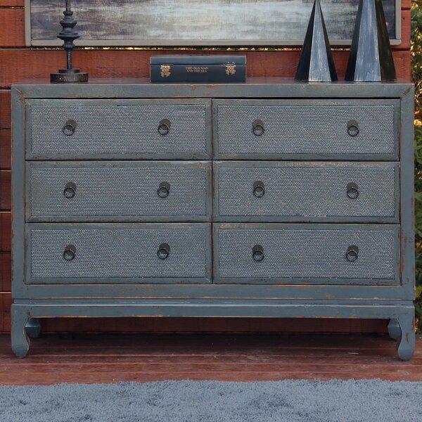 Devanna Antique Style 6 Drawer Double Dresser by Bloomsbury Market Bloomsbury Market