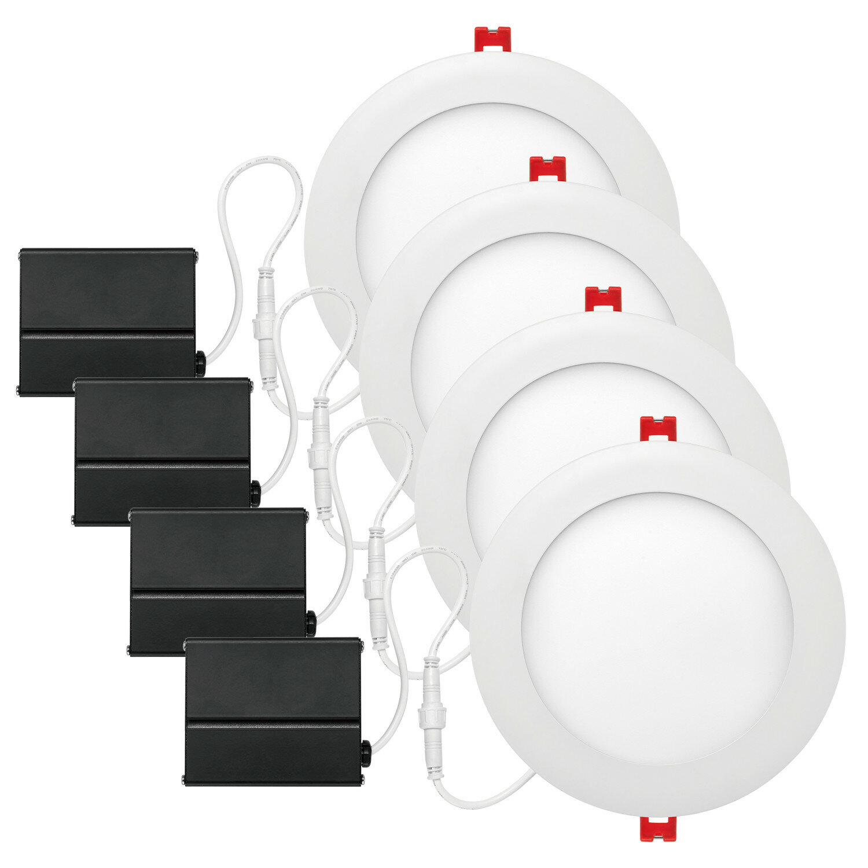 Globe Electric Company White Ultra Slim 6 Recessed Lighting Kit Wayfair