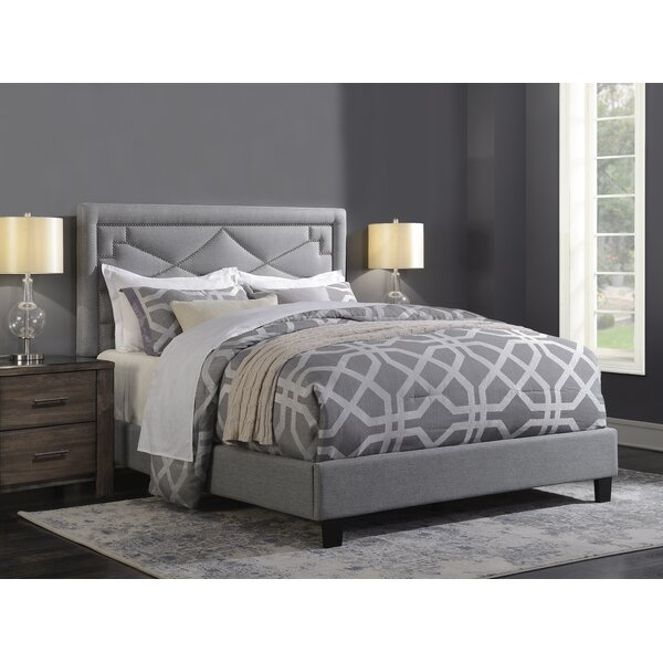 Wolter Diamond Standard Queen Upholstered Bed by Mercer41