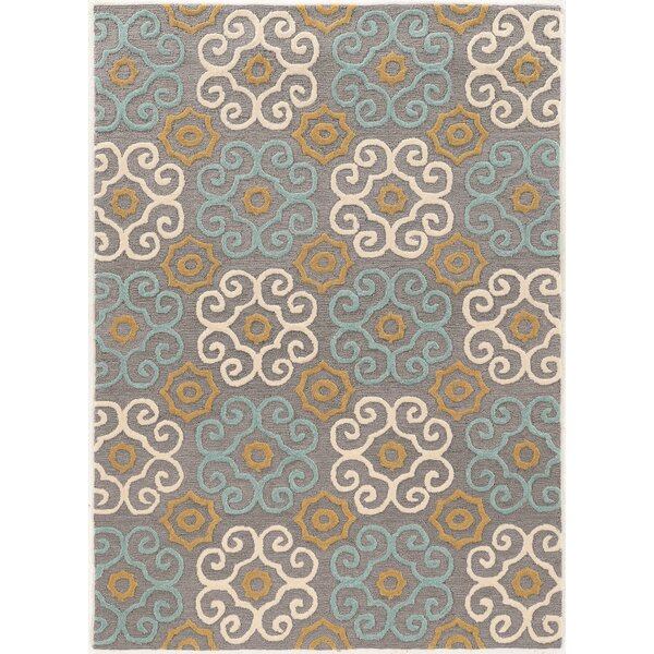 Coggins Hand-Tufted Gray Area Rug by Charlton Home