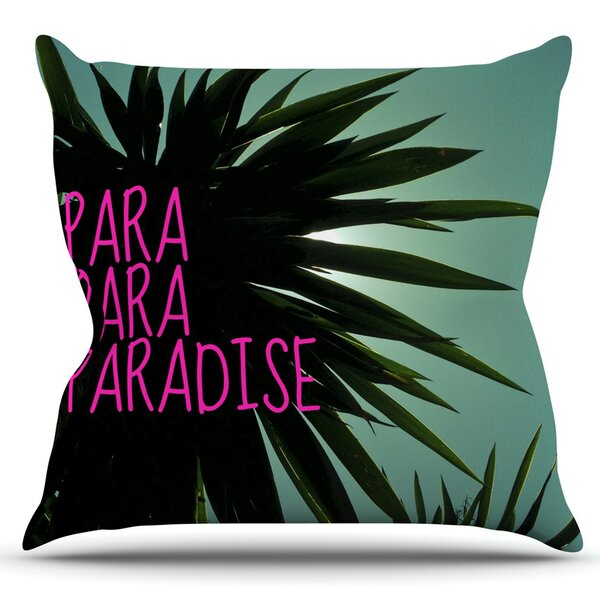 Exotic Paradise by Nika Martinez Outdoor Throw Pillow by East Urban Home