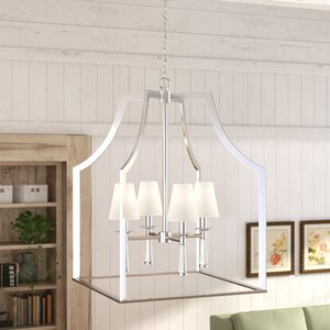 Indimar 4-Light Shaded Chandelier