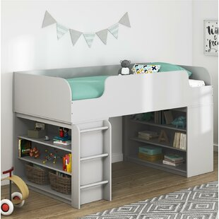 Price Check Amak Panel Bed with Ladder and Bookcase By Mack & Milo