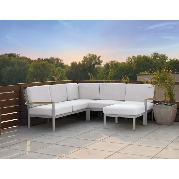 Caspian Sectional with Cushions by Sol 72 Outdoor