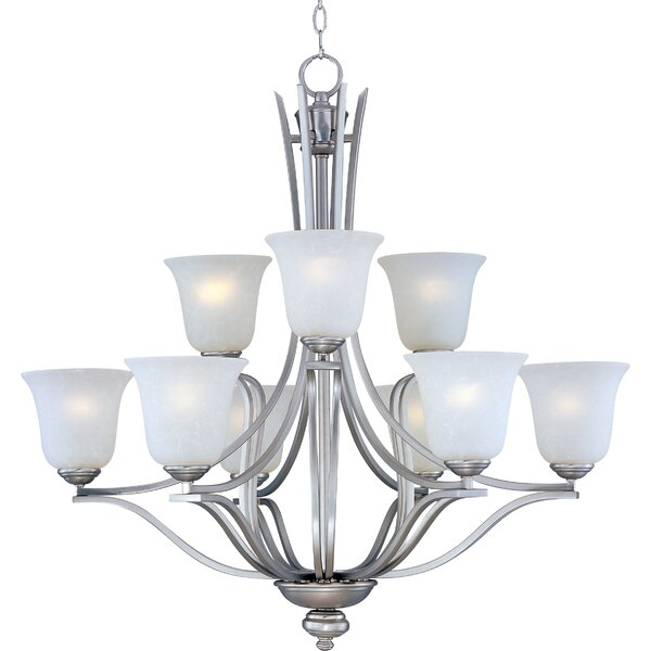 Mansfield 9-Light Shaded Tiered Chandelier By Charlton Home