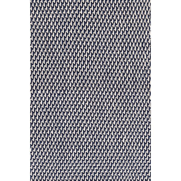 Two-Tone Rope Hand Woven Navy/Ivory Indoor/Outdoor Area Rug by Dash and Albert Rugs