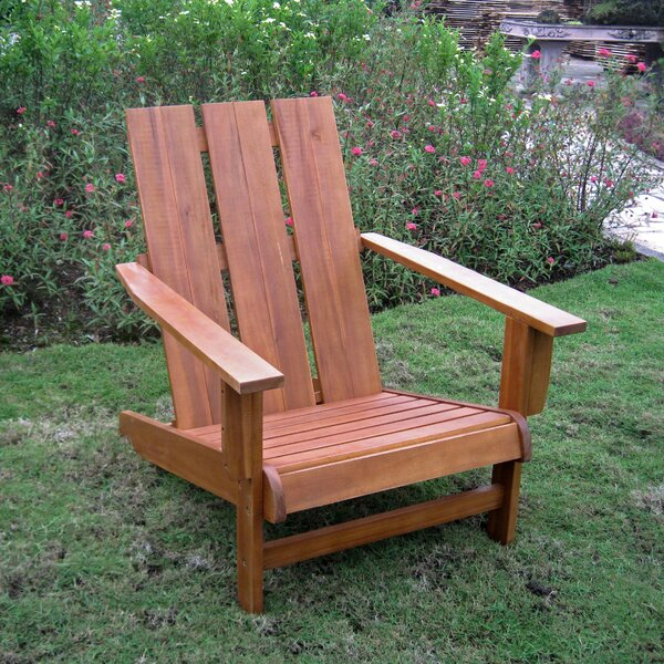 Pine Hills Solid Wood Adirondack Chair by Beachcrest Home
