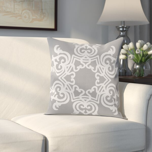 Poestenkill Floral Motif Throw Pillow by Three Posts