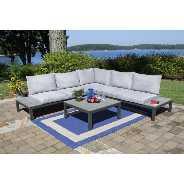 Eklund 4 Piece Sectional Set with Cushions by Ivy Bronx