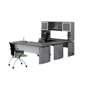 Best Reviews Medina Series 3-Piece U-Shape Desk Office Suite By Mayline Group