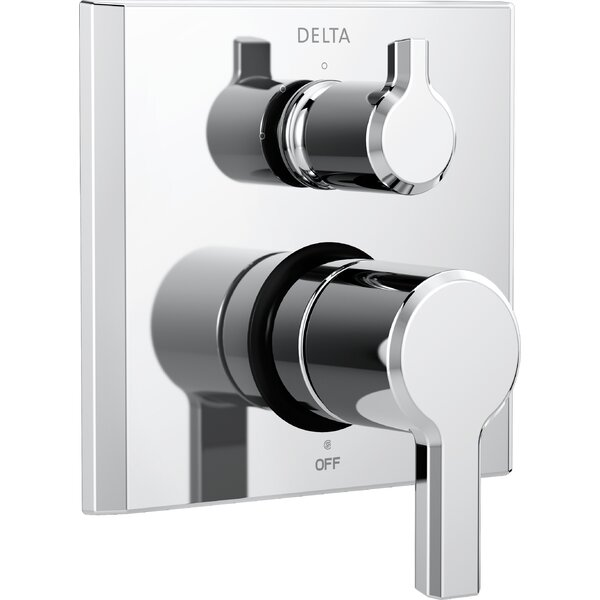 Pivotal Monitor 14 Series Double Handle Valve Trim with 3-Setting Diverter by Delta