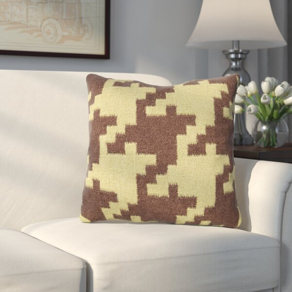 Timothy Houndstooth Throw Pillow by Alcott Hill